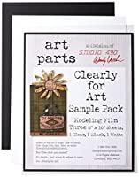 """Wendy Vecchi Cleary For Art Sheets Sample Pack 3/Pkg-Clear, Blackout & Whiteout 8""""X10"""" (並行輸入品)"""