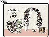 かえるのピクルス リネンテイスト ポーチ ピクルス ガーデン