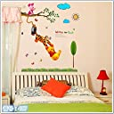 壁紙シール disney ディズニー くまのプーさん ウォールステッカー 幼稚園 ウォール ステッカー ポスター シール 半透明