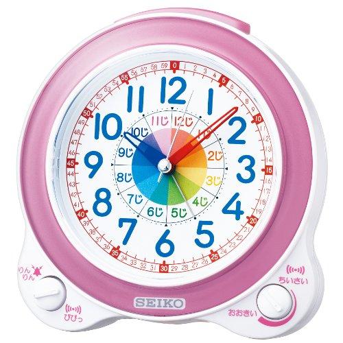 SEIKO CLOCK (セイコークロック) 目覚まし時計 知育 アナログ ピンク KR887P