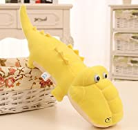 Dalino ソフトぬいぐるみ おもちゃ キッズ おもちゃ ソフトプラッシュ クロコダイル 人形 ペンダント ベビードール おもちゃ ミニ人形 女の子 男の子 ホットな子供へのギフト (イエロー)