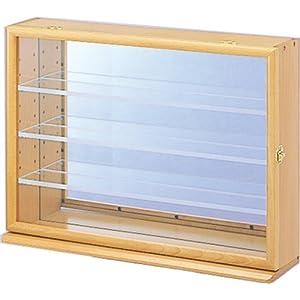 コレクションケース ワイド 透明アクリル棚板タイプ ナチュラル木目