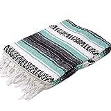 モリーナインディアンブランケット (Molina Indian Blanket) Economy Mexican Blanket/エコノミーメキシカンブランケット[約185×122cm]LT.GREEN