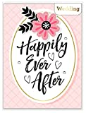 American Crafts 5x 7インチGlitter & Foil Happily Ever Afterグリーティングカード