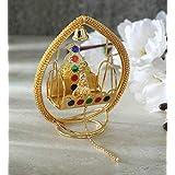 Itiha Diva balgopal or Laddu Gopal Lord Krishna jhula Swing for Home Temple mandir or car Dashboard showpiece - 8 cm L 10 cm