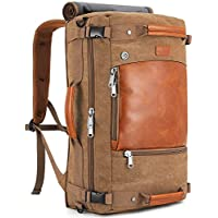 Plambag Canvas Travel Duffel Backpack Retro Laptop Messenger Bag Handbag