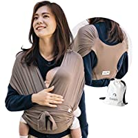 【ママリ口コミ大賞受賞】コニー抱っこ紐 (Konny by Erin) スリング 新生児から20kg 収納袋付き 国際安全認証取得 ぐっすり抱っこひも (モカ) (3XL)