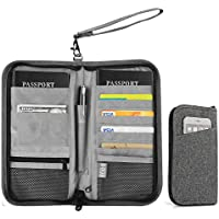 Family Travel Wallet, Vivefox RFID Blocking Passport Wallets, Travel Documents Organizer for Family & Men & Women (Grey)