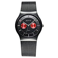 Bering TimeメンズクラシックコレクションWatch with Mesh Band and scratch resistantサファイアクリスタル。デンマークの設計。11939–229by Bering