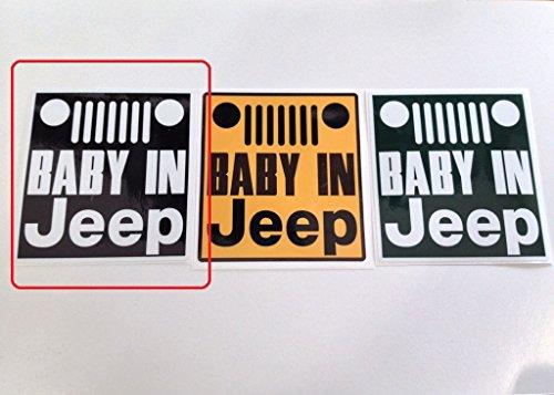 BABY IN Jeep ステッカー/グリル【マットブラック】H125×W115mm ラングラー チェロキー
