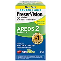 海外直送品Bausch And Lomb Bausch And Lomb Preservision Areds 2 Eye Vitamin And Mineral Supplement Soft Gels, お得なバリュー210 粒 X 1 Pack JbhSE