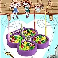 Tivolii クリエイティブ フィッシング ゲーム おもちゃセット 電子 磁気 回転 フィッシング ボード 子供 釣り ゲーム おもちゃ 男の子 女の子用