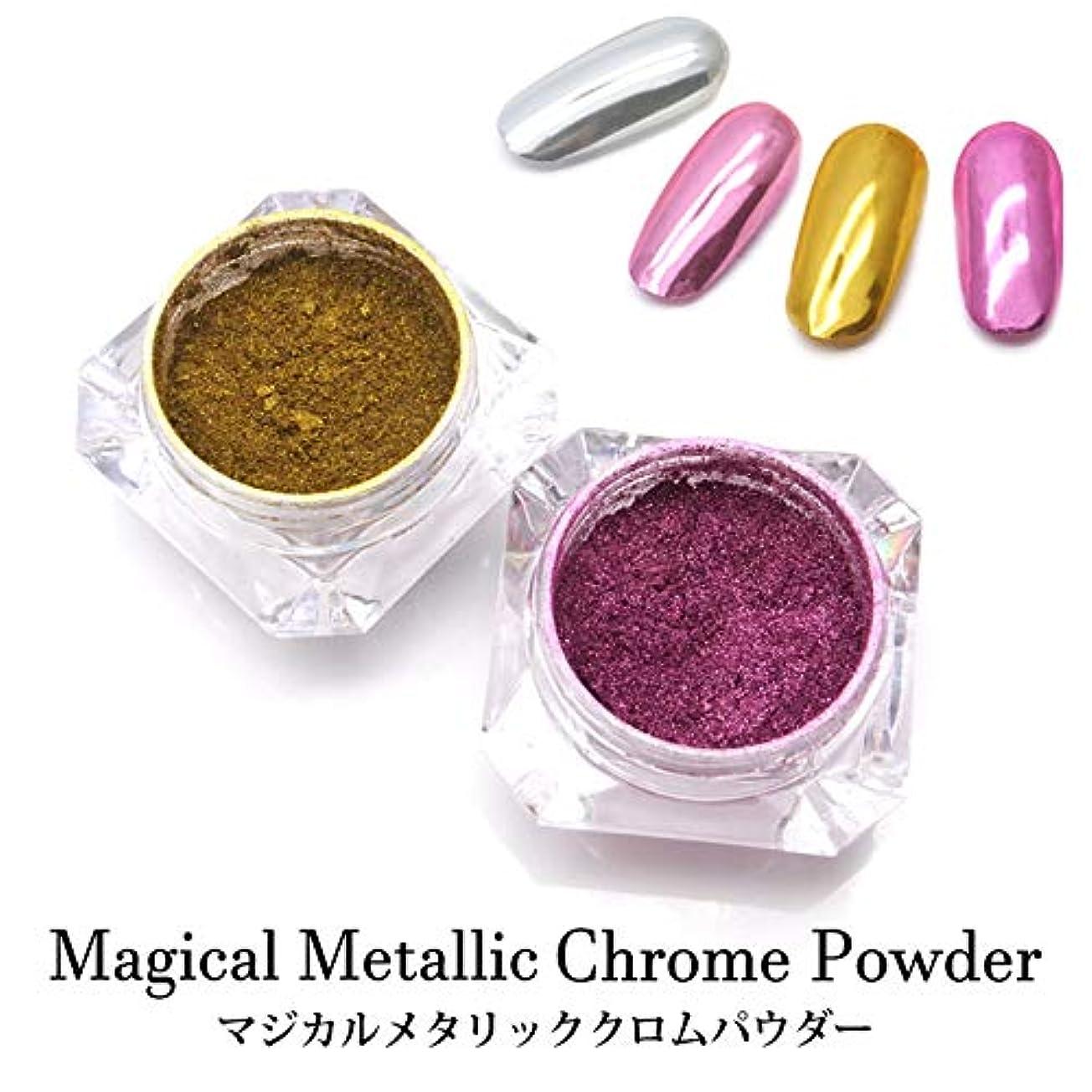 考慮材料メトロポリタンマジカル メタリック クロムパウダー 全14色 ケース入り 1~6 (4.ローズ)