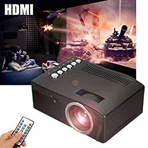 ELEGIANT ミニLEDプロジェクター ホームシネマ 1080P HD AV/ USB /TF/ HDMI対応できる リモコン付き