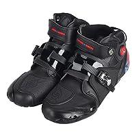PRO Sportbike レーシングブーツ/バイク用ブーツ/ショートブーツ 強化防衛性 ライダーブーツ 42(約26-26.5CM) ブラック