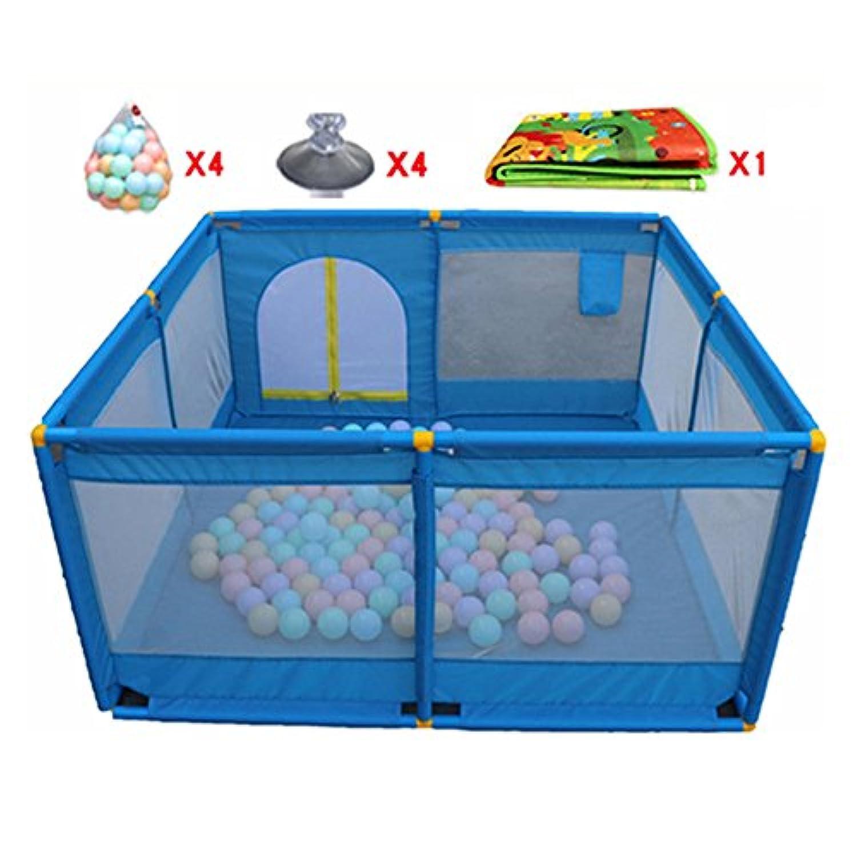 マットとボール付きベビープレイペン、屋内屋外安定性のある子供幼児キッズヘビーデューティーフェンス (色 : Style-3)