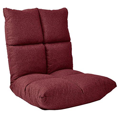 もっちり低反発 フロアチェア 14段階リクライニング座椅子 「 モルビド 」 コンパクトサイズ NILEワインレッド色