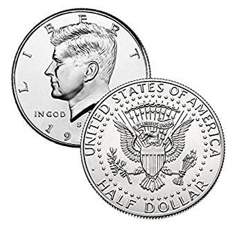 ケネディ 50セント銀貨 1965年