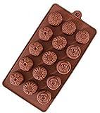 一口サイズシリーズ 小さなお花15個作れます(バラ*ひまわり7*すいせん*ダリア)「お菓子作り 手作り石鹸、キャンドルにもバスボムの型にも!」  シリコンモールド  フェイクスイーツシュガークラフト 粘土  押し型・抜き型   レジン型 粘土型 キャンドル型 石鹸型 シリコン型 プラ板  Comehome  mama's cafe レシピブログ スイーツ クックパッド haru-mi  レシピブログ スイーツ クックパッド haru-mi バレンタイン ホワイトデー