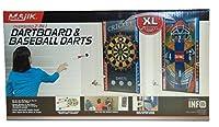 特大2in 1Dartboardと野球ダーツXL両面ターゲットマットギフトセットギフトおもちゃfor Boys and Girls