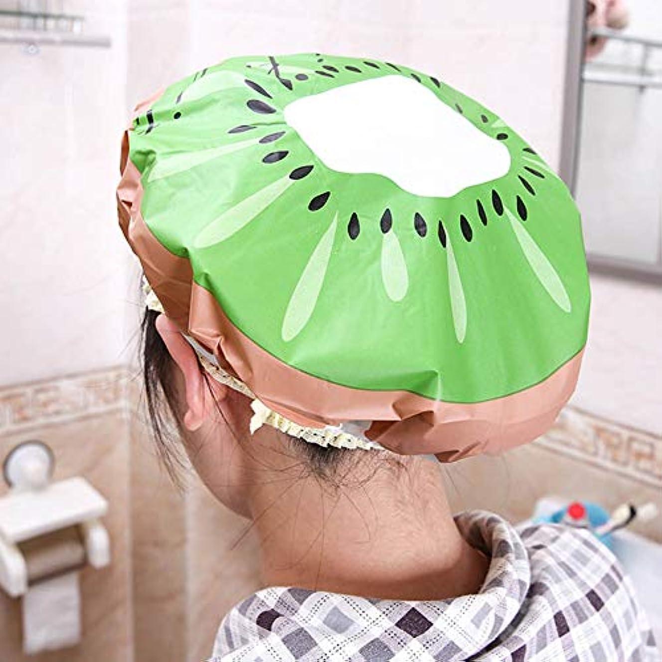 気晴らし想定妨げるLULAA シャワーキャップ ヘアキャップ シャワー 洗顔 入浴 お風呂 プール 銭湯用 髪を染める 美容室 バス用品 フルーツのデザイン 可愛い