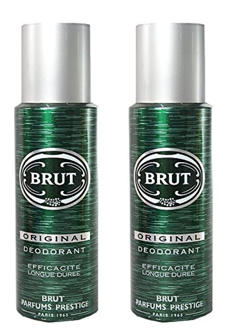 床解き明かす高架Brut Original Deodorant Spray For Men - 200 Ml Pack Of 2