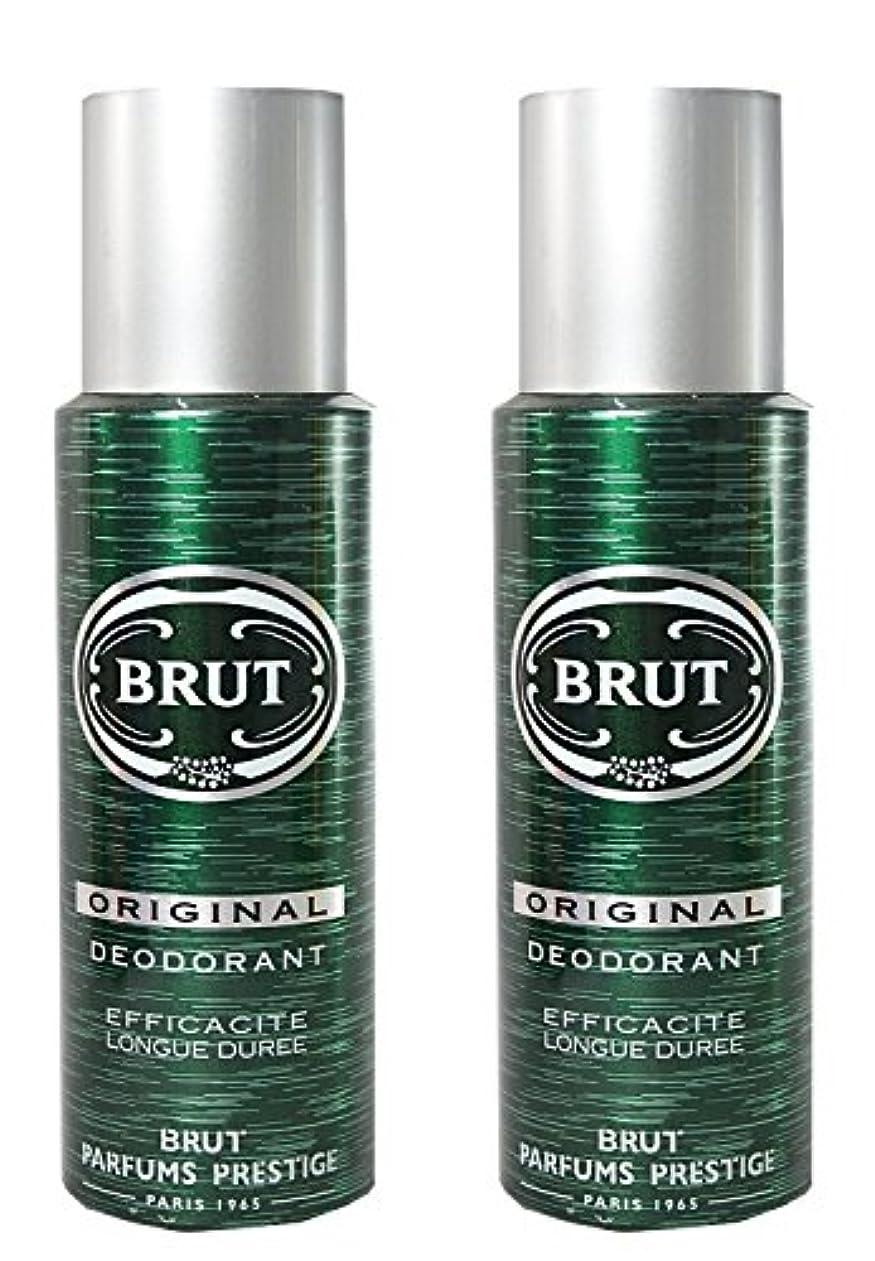 親密な大混乱熟したBrut Original Deodorant Spray For Men - 200 Ml Pack Of 2