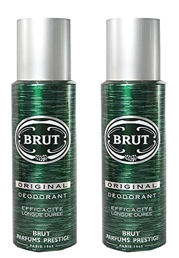 水平カナダ理容師Brut Original Deodorant Spray For Men - 200 Ml Pack Of 2