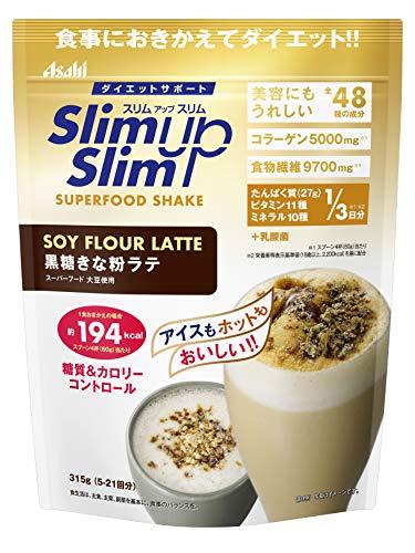 スリムアップスリム 乳酸菌+スーパーフードシェイク 黒糖きな粉ラテ 315g