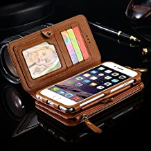 Floveme Business Wallet Purse Stand Leather Case For iPhone 6 6S / 6 Plus 5.5 / 6S Plus For iPhone 7 / Plus Photo Frame Card Slots Metal Handle Ring Cover Bag For Huawei Mate 9 For Samsung Galaxy S8 S8 Plus S6 Edge Plus / Note 5 / Note 4 / Note 3 / S6 / S HBK4485