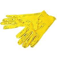 パルフィーユ/カラフル カラー キラキラ スパン コール 手袋 (Free ゴールド)/ 舞台 ステージ キッズ ダンス 衣装 グローブ