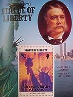 バージン諸島切手『自由の女神100周年・アメリカ歴代大統領(アーサー)』 未使用