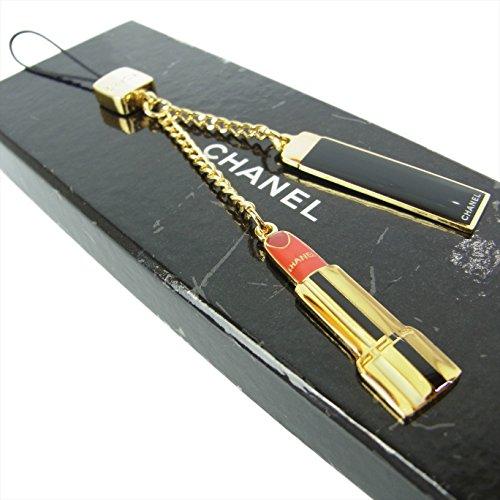(シャネル) CHANEL CC ココマーク 口紅 リップ 携帯 スマホ ストラップ バッグチャーム 箱付き ゴールド 16746eSaM 中古