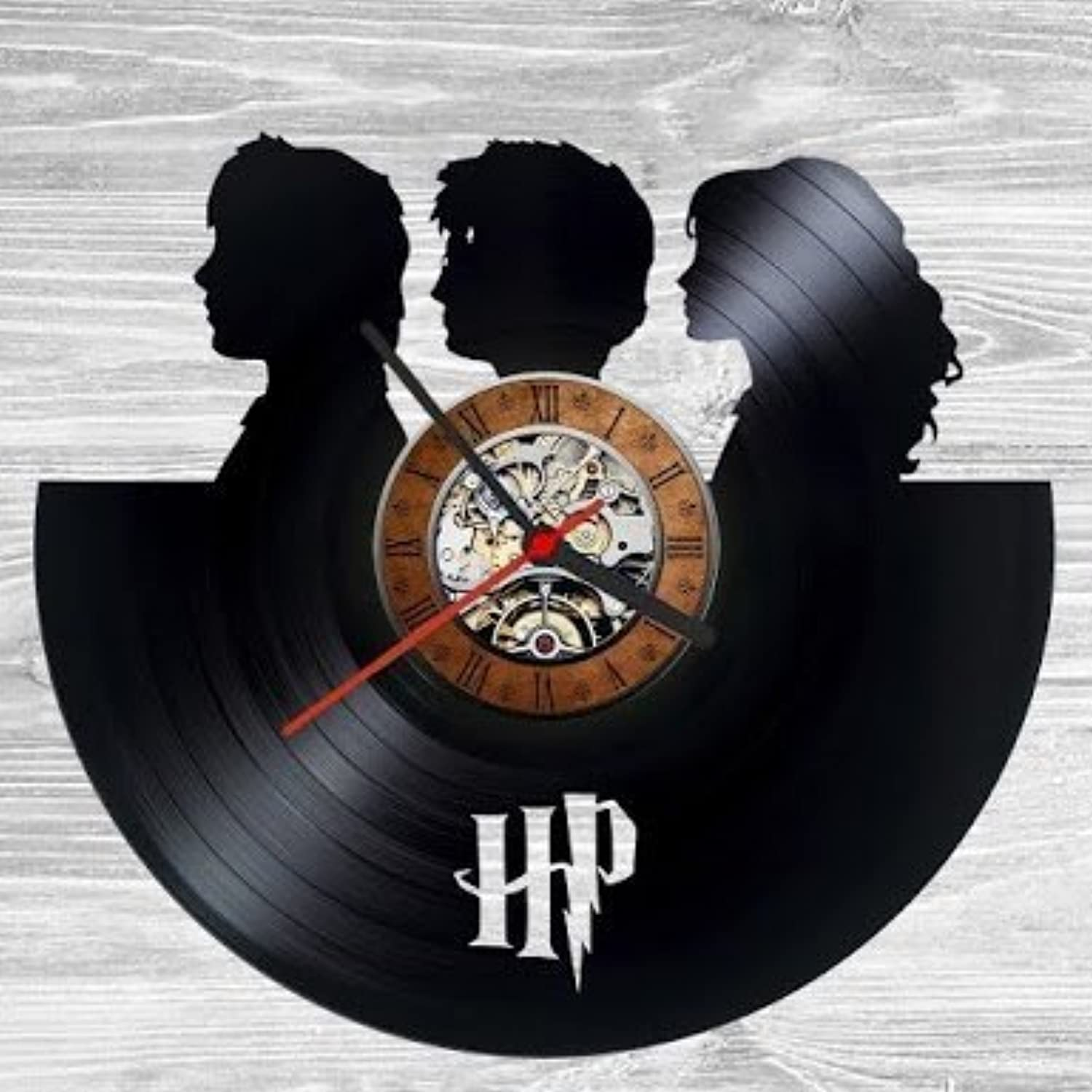 Harry Potter Friends Vinyl Record Clock Wall Decoration Modern Vintage Home Room Art