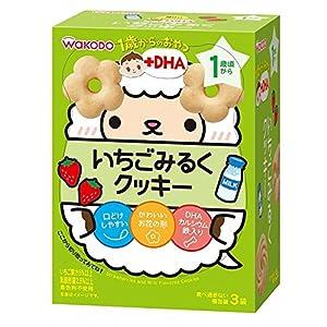 和光堂 1歳からのおやつ+DHA いちごみるくクッキー