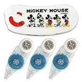 プラス テープのり ノリノポッド 限定 ディズニー ミッキーマウス 本体+詰替テープ3個 39840