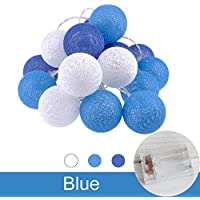 LEDイルミネーションライト ストリングライト バッテリーパワー ボールライト ホームパーティーの装飾 ブルー