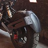 CORANGE オートバイリアホイールフェンダースプラッシュガード(ホンダグロン用)MSX125 MSX125SFリアマッドガード(ブラケット付き)ブラック