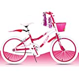 Duwen子供の自転車子供の女の子プリンセス自転車3 Years Old 6 Years Old 8 Years Old non-folding Bicyclesギフトローズレッド