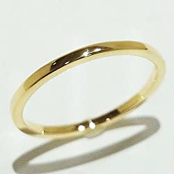 K18 リング ゴールド 極細リング ファランジリング ミディリング 18金指輪 1 ゴールド指輪 ゴールドリング 手作り指輪 直販 3色選べる
