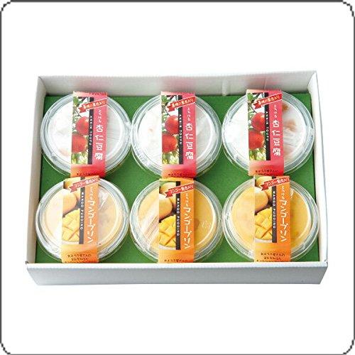 とろけるマンゴープリン・杏仁豆腐6個セット