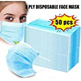 50 Pes Of Disposable Masks 3 Layers Of Dust Masks Face Protection Mask