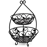 Pfaltzgraff Basics Napkin Holder Wire Leaf Upright Square 2-Tier Fruit Basket Steel