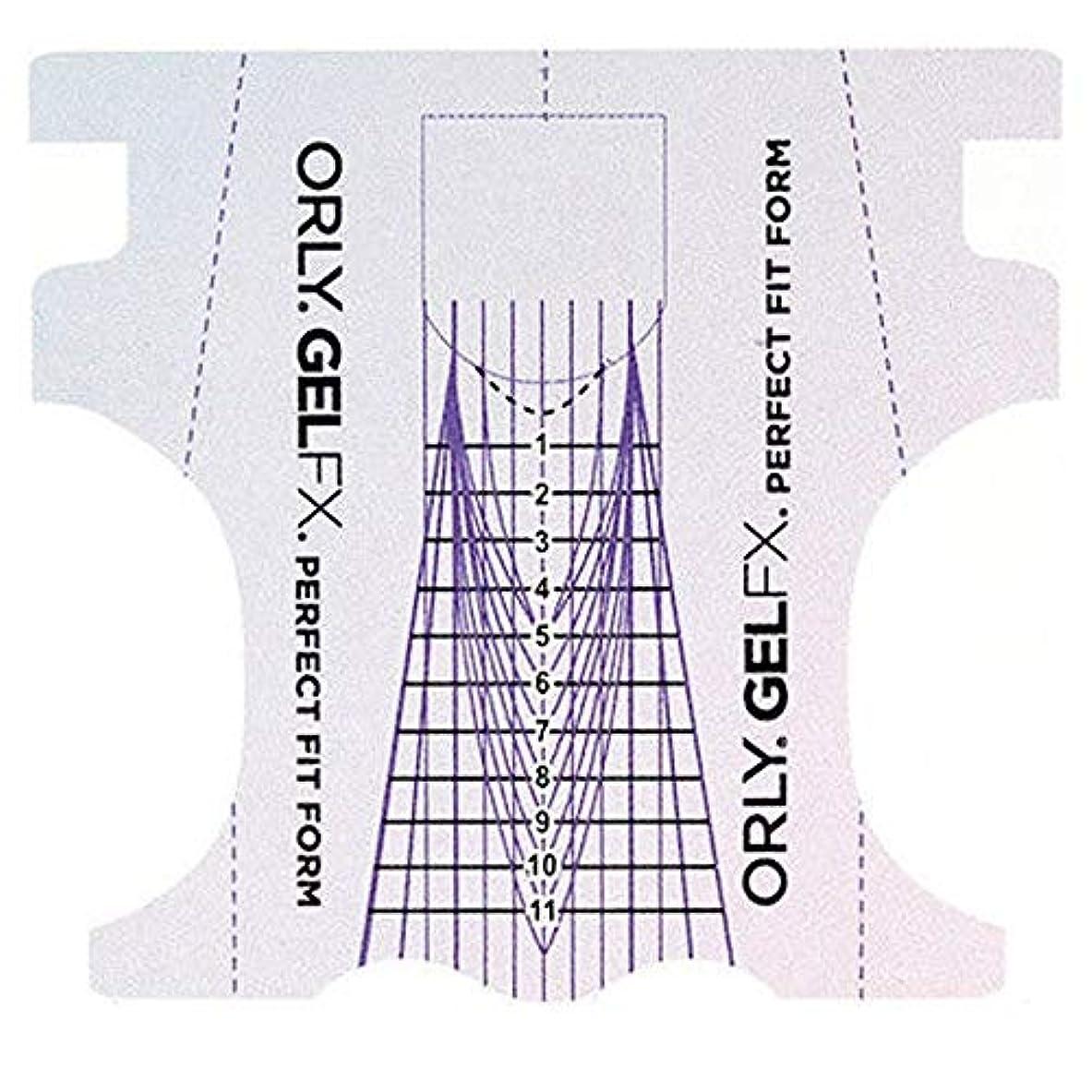 冷酷な茎に同意するOrly Gel FX - Perfect Fit Forms - 22 count