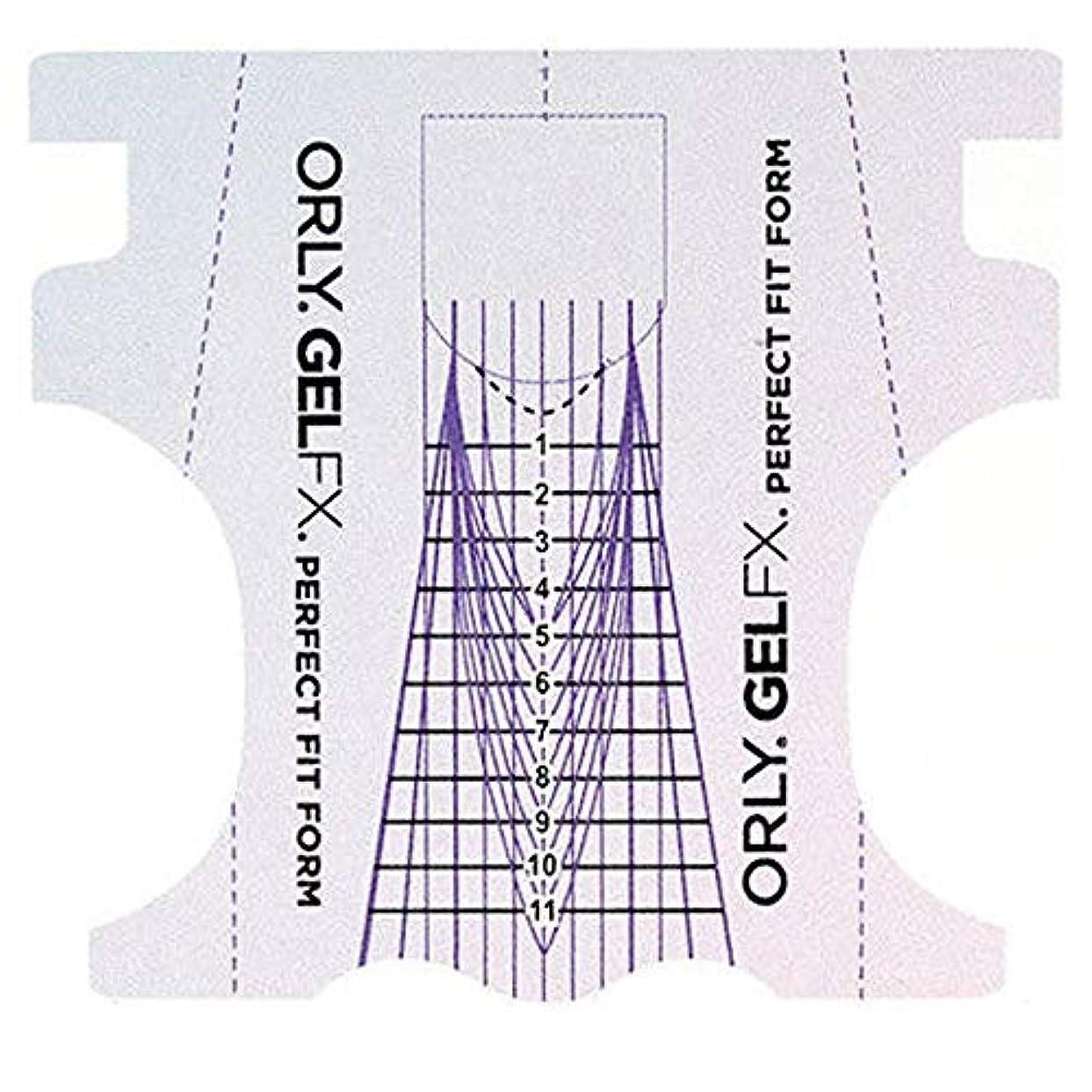 いいね特徴エレメンタルOrly Gel FX - Perfect Fit Forms - 22 count