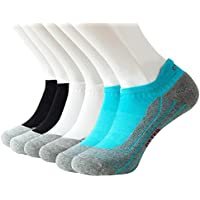 Odor Resistant Cushioned Ankle Tab Sock Running Arch Support Low Cut Socks