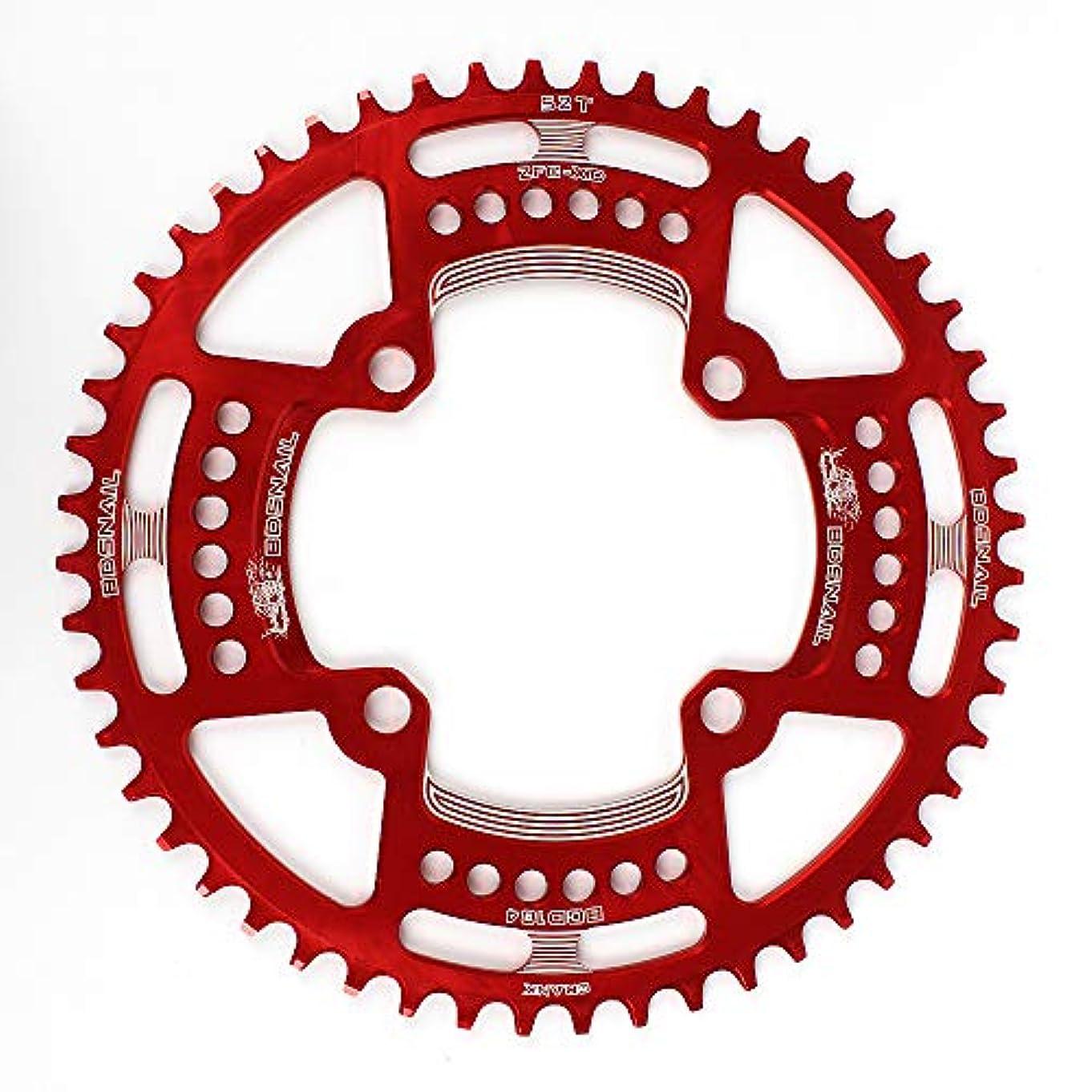 スケジュール楽な仲間、同僚Rakuby 自転車チェーンリング 104BCD マウンテン バイクシングル チェーンリング ディスクナロー ワイドチェーンリング 44T / 46T / 48T / 50T / 53T