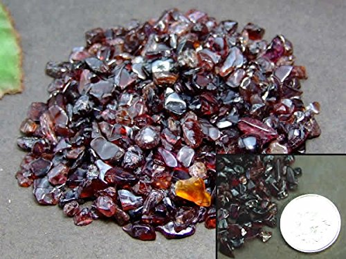 hinryo  100g  浄化さざれ 天然石 パワーストーン ネイルやオルゴナイトなど色々な用途で使える (ガーネット さざれ 100g)