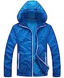 ウィンドブレーカー ジャケット パーカー ナイロン 山 メンズ 全5色 4サイズ (XL, ブルー)