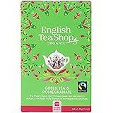 English Tea Shop Organic Green Pomegranate, 20 Teabags